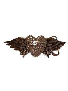 Harley-Davidson women's Rhinestone Heart & Wings belt buckle #97735-12 Silver