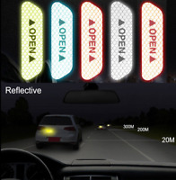 4x Car Door Open Sticker Reflective Tape Safety Warning Auto Decal Film Styling