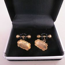Antique 9 ct gold front cuff links