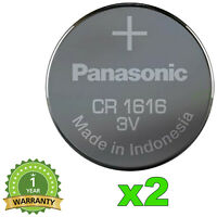 2x NEUF BATTERIE PILE CR1616 PANASONIC LITHIUM 55mAh 3V CR-1616EL