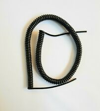 """8 CORE 26awg (0.14sqmm) COILED BLACK PUR DATA CABLE 750mm (29.5"""") COIL LENGTH"""