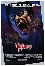 BLUE MONKEY (1987) ORIGINAL MOVIE POSTER  -  ROLLED