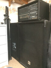 PA System (Peavey [400w] powered mixer, Phonic 2 way stage speakers & stands)