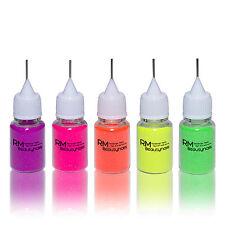 Neon Set Pink Lila Glitter Glitzerpuder praktische Dosierflasche 5x8ml Nailart