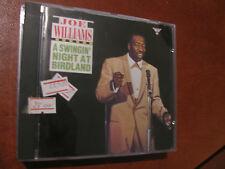 """JOE WILLIAMS """"SWINGING NIGHT at birdland""""-CD-fino 2 cd spese spediz.fisse"""