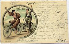 CPA POSTCARD   Precurseur GRUSS aus AILHEIL VELOCIPEDE  1901 voir scans 718
