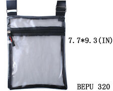 See-Thru Clear Jelly Plastic Messenger Crossbody Purse Bag