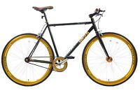 "20""/700c COYOTE TRA-FIX FIXIE BIKE FLIP FLOP NEW STR8 HANDLEBAR BLK/GOLD V97992"