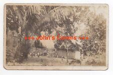 c1924 - 1949 PANAMA Cover NATIVE HOME SWEET HOME Real Photo AZO Postcard