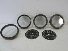 4 Vintage Brass Gauge Covers for Rr & Other Uses- 2 Faces
