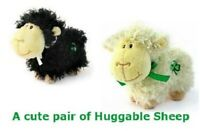 Pair of Cuddly Huggable Irish Sheep From the Huggable Irish Friends Collection.