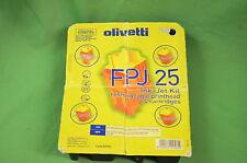 Olivetti FPJ25 FPJ 25 della testina di stampa nero + 4 CARTUCCE D'INCHIOSTRO 82070