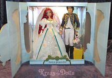 Disney Limited Edition Designer Ariel & Prince Eric Wedding Platinum Doll Set