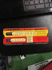 Vintage Perfection Stove Co Slide Rule BTU & Feature Calculator 1940s Superfex