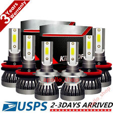 Mini Combo H7+H11+H11 LED Headlight Kits Fog Light Bulbs High Low Beam HID 6000K