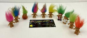 """Lot Of 10 - Vintage Miniature Variety  Russ Troll Dolls 1"""" Mini Dolls"""