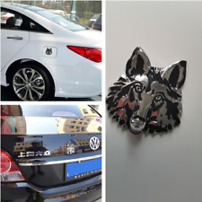 1pair,Wolf head 3D Metal Auto Car Motorcycle Logo Sticker Badge Emblem Decals ~
