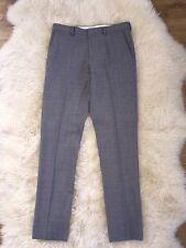 Nwt JCrew $128 Bowery Slim Pants In Wool W34 L36 Ash Grey 47475