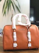 $328 MICHAEL KORS Bedford Legacy Medium Leather Duffel Satchel Terracotta