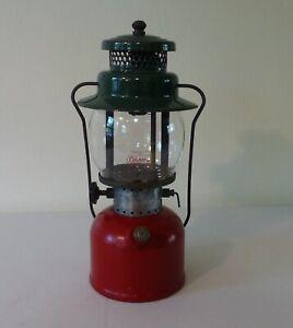Vintage Coleman Model 242C Lantern~ Red & Green Christmas
