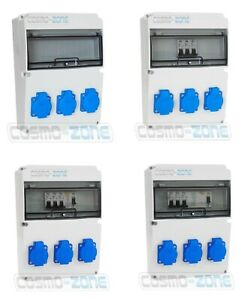 Baustromverteiler Wandverteiler Stromverteiler Komplett 3x230V 3-31