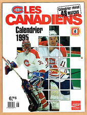 1995 Montreal Canadiens Team-Issued Calendar. Roy Cover (French)