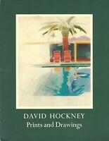 DAVID HOCKNEY Prints and Drawings ART BOOK 1978 Paperback GENE BARO 147 Pages