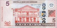 Suriname 5 Dollars 2010 Pick 162  (1)
