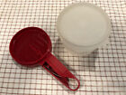 Vintage TUPPERWARE Red Flour Sifter with Cup and Seal
