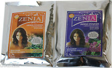 2014 Crop 100g Zenia INDIGO +100g Henna Powder BLACK Color Natural Hair Dye Kit