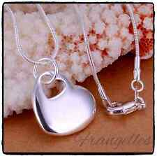 925 Sterling Silver Double Cutout Heart Chain Pendant, Necklace, Gift Bag, UK