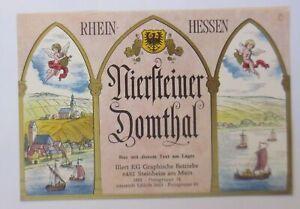 Wine Label, Rhein-Hessen, Niersteiner Domthal, Small Auheim, 1960 (1048)