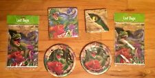 DINOSAUR PARTY SUPPLIES SET FOR 16 - Plates Napkins Loot Bags
