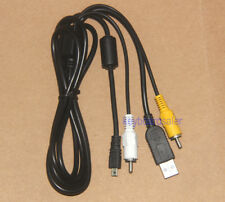 USB+AV CABLE 8 pin Fuji FinePix S Series S700, S800FD,S1000fd, S2000HD,S5700