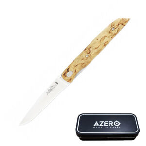 Azero Curly Birch Wood Pocket Knife 171mm Overall Length (A170123)
