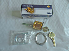 "New ILCO Satin Chrome 1-1/8"" Brass Rim Cylinder 7015RB8-26D-KD Free Shipping"