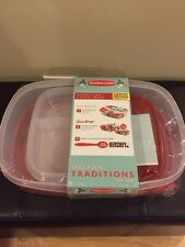 Food Storage Container Rubbermaid Clear Red Limited Edition 8 piece total set