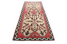 Sophisticated Rug 1'8x3'5 ft. Handwoven Small Turkish Vintage Runner Red Rug