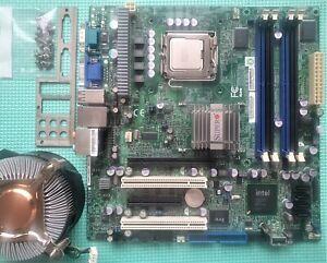Supermicro C2SBM-Q-PE010 microATX CPU Board REV 1.1 With intel Q9400 & fan combo