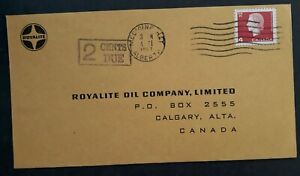1967 Canada Royalite Oil Company Cover ties 4c stamp cancelled Medicine Hat