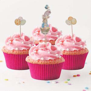 24pcs Hochzeit Geburtstag Party Kuchendekoration Kuchendeckel für Kinder