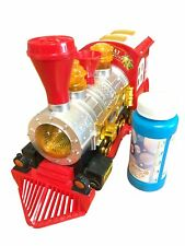 Steam Train Locomotive Engine Bubble Blowing Bump Battery Operated Lights Sound