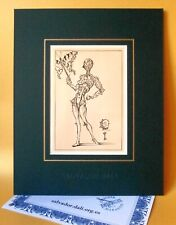 SALVADOR DALI 1948 LIMITED VINTAGE LITHOGRAPH + IRON BUTTERFLIES + SIGNED COA