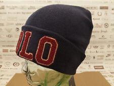 POLO Ralph Lauren Fold-Up Cappello Beanie CINIGLIA Varsity Blu Scuro skull cap NUOVO con etichetta prezzo consigliato £ 59
