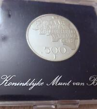 Belgium 500 francs 1980 QP Flamand Vlaams  Argent Silver