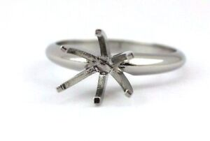 Platinum 6 prong solitaire engagement ring 3 ct semi mount any head available