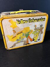 1968 Original Beatles Yellow Submarine Metal Lunchbox