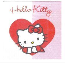 ♥ SERVIETTES EN PAPIER PAPER NAPKINS CHAT CAT HELLO KITTY B23 ♥