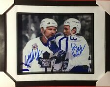 WENDEL CLARK DOUG GILMOUR SIGNED TORONTO MAPLE LEAFS FRAMED AUTOGRAPHED 8X10