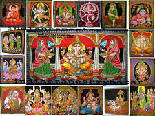 10 Pc Wholesale Lot Indian Goddess Tapestry Wall Hanging Hindu God Wall Decor